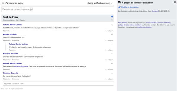 Extension StructuredDiscussions sur Wikimedica (capture d'écran).png